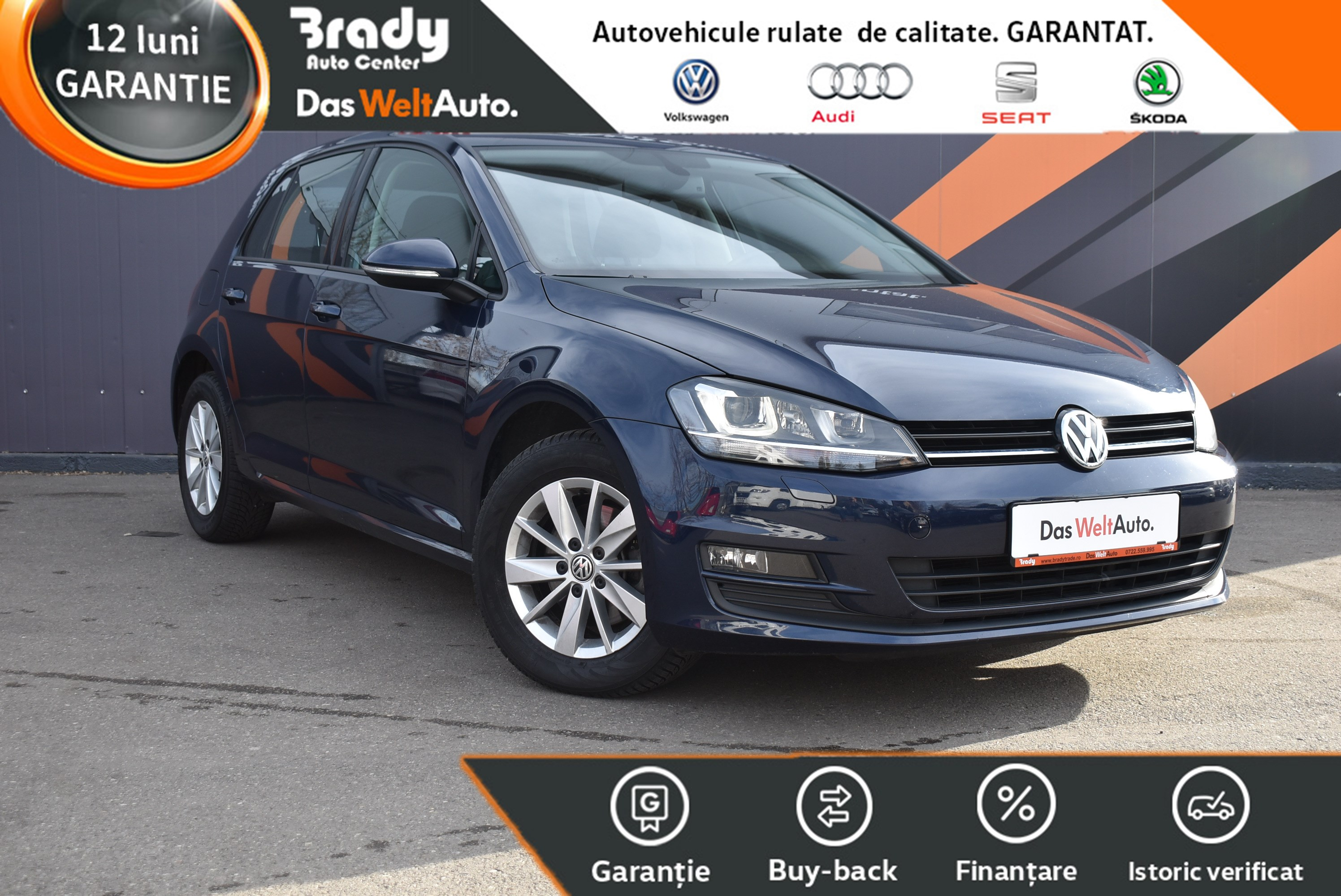 VW Golf 7 1.6TDI / 110 CP