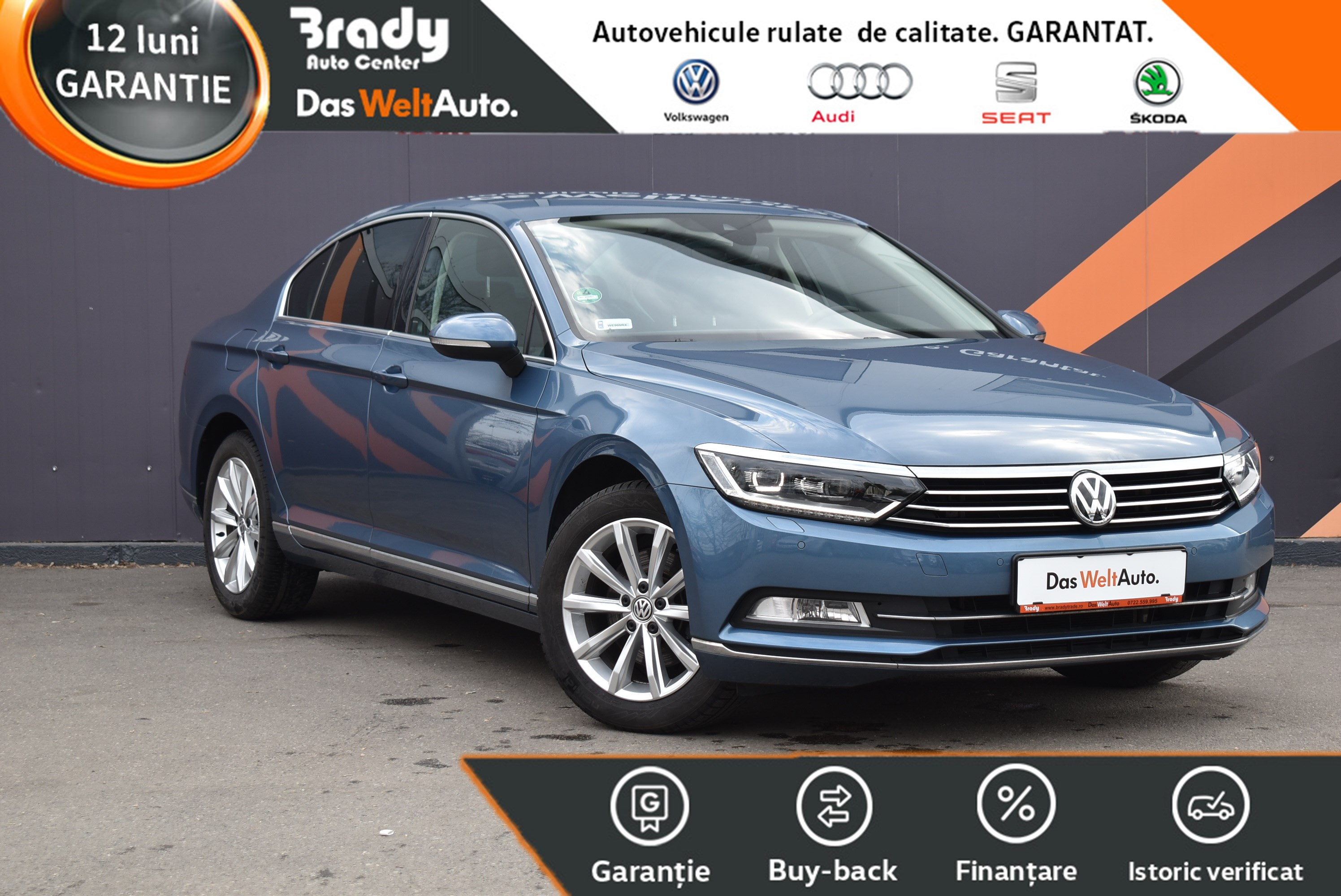 VW Passat Highline 1.8 TSI/ 180CP DSG